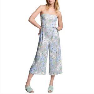 H&M Floral Strapless Jumpsuit